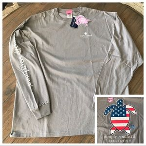 Simply Southern XXL turtle gray long sleeve top